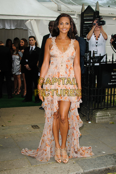 Alesha Dixon.Women Of The Year 2012 - Glamour Awards, Berkeley Square, London, England..29th May 2012.full length pink orange floral print dress floaty  .CAP/CJ.©Chris Joseph/Capital Pictures.