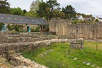 France, Bretagne, (29), Finistère, Presqu'île de Crozon, Landévennec: Abbaye Saint-Guénolé de Landévennec // France, Britatny, Peninsula of Crozon, Landévennec: Landévennec Abbey