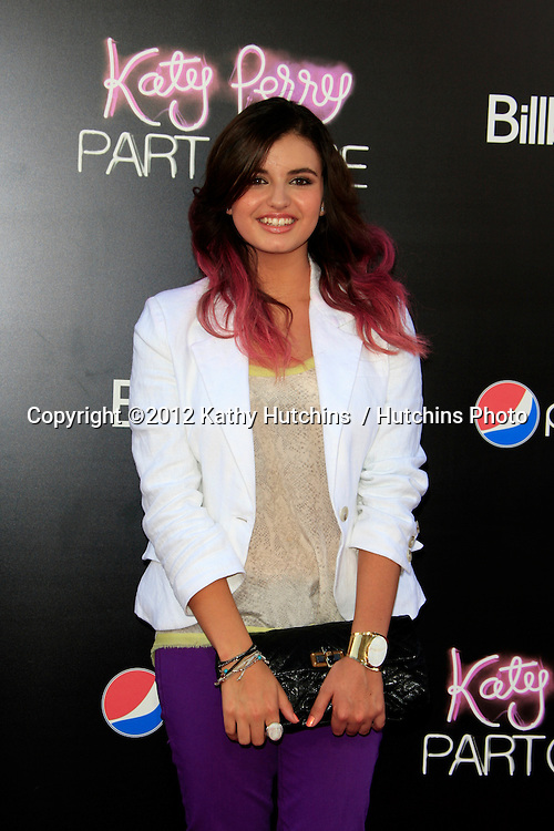 """LOS ANGELES - JUN 26:  Rebecca Black arrives at the """"Katy Perry: Part Of Me"""" Premiere at Graumans Chinese Theater on June 26, 2012 in Los Angeles, CA"""
