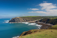 Crackington Haven and Pencannow Point from Cambeak, Cornwall