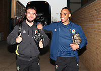 Blackburn Rovers' Elliott Bennett and Blackburn Rovers Adam Armstrong arrive at the ground<br /> <br /> Photographer Rachel Holborn/CameraSport<br /> <br /> The EFL Sky Bet League One - Gillingham v Blackburn Rovers - Tuesday 10th April 2018 - Priestfield Stadium - Gillingham<br /> <br /> World Copyright &copy; 2018 CameraSport. All rights reserved. 43 Linden Ave. Countesthorpe. Leicester. England. LE8 5PG - Tel: +44 (0) 116 277 4147 - admin@camerasport.com - www.camerasport.com