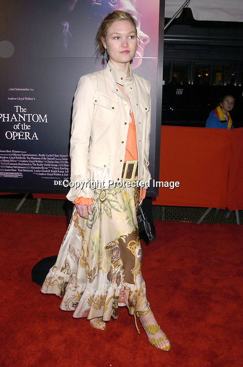 "Julia Stiles ..at The New York Premiere of ""Phantom of the Opera"" on ..December 12, 2004 at the Ziegfeld Theatre. ..Photo by Robin Platzer, Twin Images.."