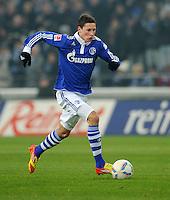 FUSSBALL   1. BUNDESLIGA   SAISON 2011/2012   20. SPIELTAG FC Schalke 04 - FSV Mainz 05                                  04.02.2012 Julian Draxler (FC Schalke 04) Einzelaktion am Ball