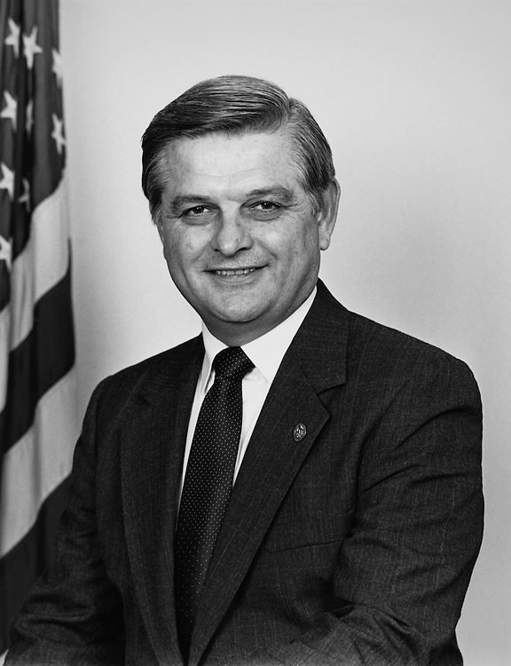 Close-up of Rep. Craig T. James, R-Fla. April, 1989. (Photo by CQ Roll Call)