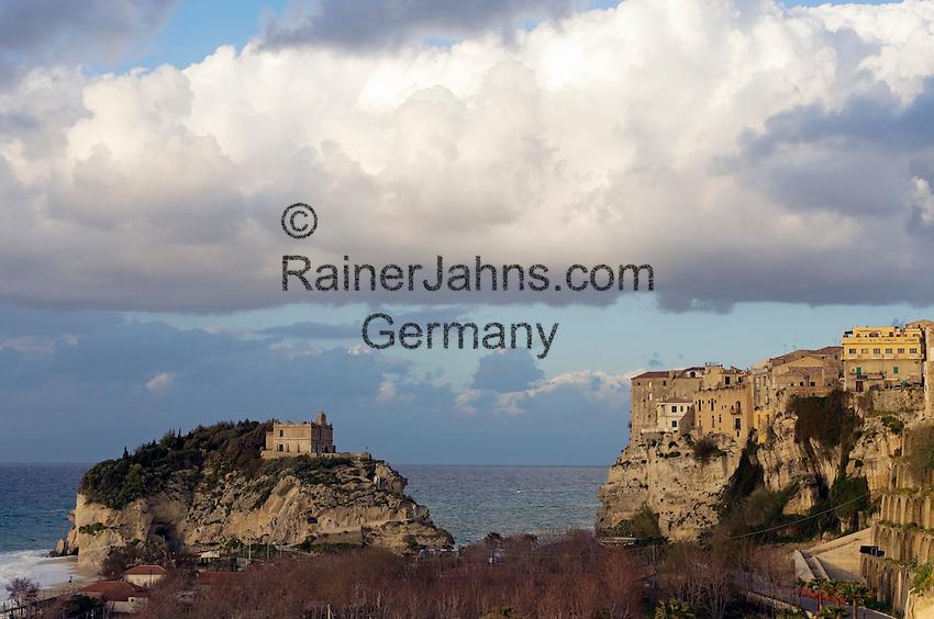 Italy, Calabria, Tropea: L'Isola (island) with sanctuary Santa Maria dell'Isola