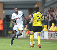 Bolton Wanderers Sammy Ameobi in action<br /> <br /> Photographer Mick Walker/CameraSport<br /> <br /> The EFL Sky Bet Championship - Burton Albion v Bolton Wanderers - Saturday 28th April 2018 - Pirelli Stadium - Burton upon Trent<br /> <br /> World Copyright &copy; 2018 CameraSport. All rights reserved. 43 Linden Ave. Countesthorpe. Leicester. England. LE8 5PG - Tel: +44 (0) 116 277 4147 - admin@camerasport.com - www.camerasport.com