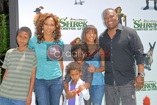 Holly Robinson Peete, Rodney Peete and family<br />