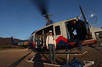 Helicopter used by the Conafor, National Forestry Commission to fight forest fires in the Sierra de Sonora, Mexico. June 2014...<br /> (photo: LuisGutierrez / NortePhoto.com)<br /> <br /> Helicóptero utilizado por la Conafor, Comision Nacional Forestal para el combate de incendios de los bosques en la Sierra de Sonora, Mexico. junio  2014.<br /> © (foto: LuisGutierrez / NortePhoto.com)  Helicóptero.  Helico