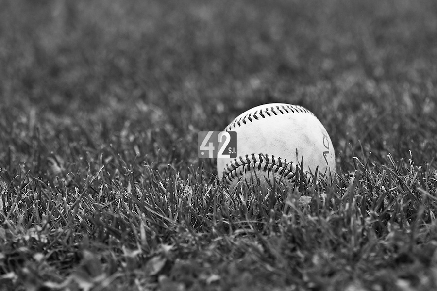 22 May 2009: A ball is seen in the infield during the 2009 challenge de France, a tournament with the best French baseball teams - all eight elite league clubs - to determine a spot in the European Cup next year, at Montpellier, France.