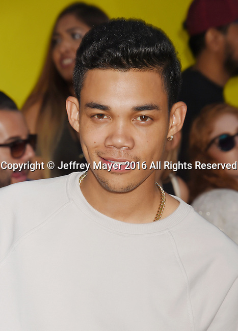 WESTWOOD, CA - AUGUST 09: Singer-songwriter/actor Roshon Fegan arrives at the Premiere Of Sony's 'Sausage Party' at Regency Village Theatre on August 9, 2016 in Westwood, California.