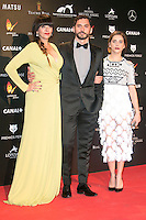 Yolanda Ramos, Paco Leon and Maria Leon attends the Feroz Cinema Awards 2015 at Las Ventas, Madrid,  Spain. January 25, 2015.(ALTERPHOTOS/)Carlos Dafonte) /NortePhoto<br /> <br /> nortePhoto.com