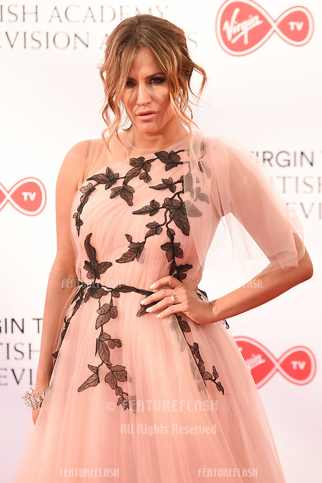 Caroline Flack arriving for the BAFTA TV Awards 2018 at the Royal Festival Hall, London, UK. <br /> 13 May  2018<br /> Picture: Steve Vas/Featureflash/SilverHub 0208 004 5359 sales@silverhubmedia.com