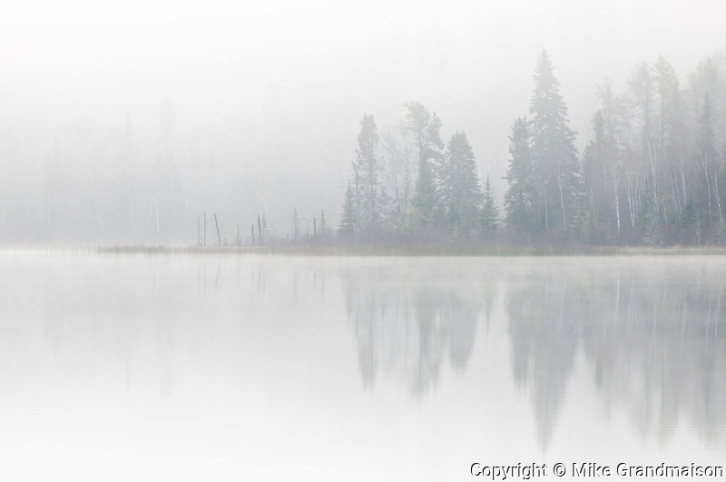 FOg on a northern lake<br />