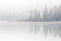 FOg on a northern lake<br />Longlac<br />Ontario<br />Canada