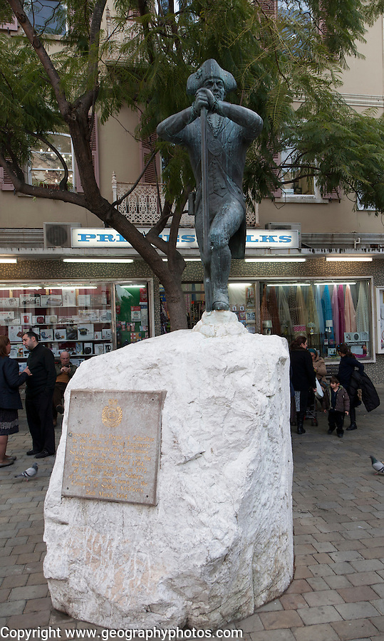 Statue of Admiral Lord Nelson in town centre, Gibraltar, British terroritory in southern Europe