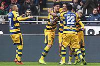 esultanza gol Roberto Inglese Goal celebration <br /> Milano 2-12-2018 Stadio San Siro Football Calcio Serie A 2018/2019 AC Milan - Parma Foto Image Sport / Insidefoto