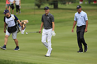 Jordan Spieth and Matt Kuchar (USA) walk to the 2nd green during Sunday's Final Round of the WGC Bridgestone Invitational 2017 held at Firestone Country Club, Akron, USA. 6th August 2017.<br /> Picture: Eoin Clarke | Golffile<br /> <br /> <br /> All photos usage must carry mandatory copyright credit (&copy; Golffile | Eoin Clarke)