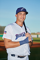Pensacola Blue Wahoos Alex Kirilloff (19) poses for a photo before a Southern League game against the Biloxi Shuckers on May 3, 2019 at Admiral Fetterman Field in Pensacola, Florida.  Pensacola defeated Biloxi 10-8.  (Mike Janes/Four Seam Images)