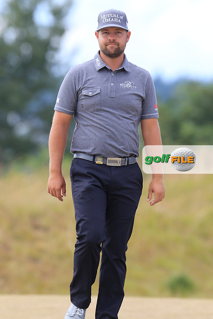 Ryan Moore (USA) on the 4th tee during Thursday's Round 1 of the 2015 U.S. Open 115th National Championship held at Chambers Bay, Seattle, Washington, USA. 6/18/2015.<br /> Picture: Golffile | Eoin Clarke<br /> <br /> <br /> <br /> <br /> All photo usage must carry mandatory copyright credit (&copy; Golffile | Eoin Clarke)