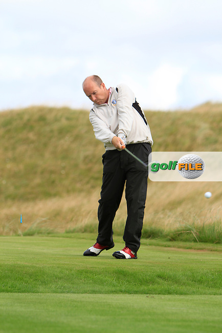 Joe Lyons (Galway) on the 14th during the South of Ireland Amateur Open Championship Third Round at Lahinch Golf Club  29th July 2013 <br /> Picture:  Thos Caffrey / www.golffile.ie