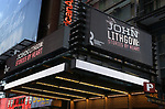 Broadway Theatre Marquee unveiling for John Lithgow's  acclaimed Solo Show 'John Lithgow: Stories by Heart' at the American Airlines Theatre on December 14, 2017 in New York City.