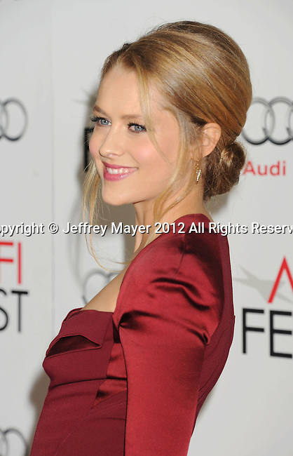 HOLLYWOOD, CA - NOVEMBER 08: Teresa Palmer arrives at the 'Lincoln' premiere during the 2012 AFI FEST at Grauman's Chinese Theatre on November 8, 2012 in Hollywood, California.