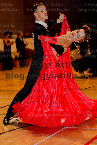 Stanislav Portanenko and Nataliya Kolyada from Ukraine perform their dance during the amateur ballroom competition of the International Championships held in Brentwood Leasure Centre, Brentwood, United Kingdom. Wednesday, 12. October 2011. ATTILA VOLGYI