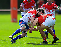 Aaron Lahmert in action during the 2019 Heartland Championship  rugby match between Horowhenua Kapiti and Poverty Bay at Waikanae Domain in Waikanae, New Zealand on Saturday, 28 September 2019. Photo: Dave Lintott / lintottphoto.co.nz