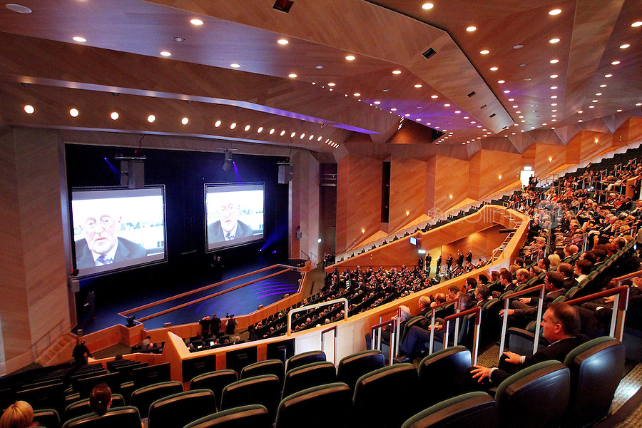 07/09/2010 The interior of the Convention Centre  during the official opening at Spencers Dock, Dublin. Photo: Collins