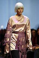 7 September 2017, Melbourne - Model parades design by RMIT student Vivian Chan during the Melbourne Fashion Week in Melbourne, Australia. (Photo Sydney Low / asteriskimages.com)