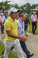 Takumi KANAYA (JPN) departs 18 as the new champion following Rd 4 of the Asia-Pacific Amateur Championship, Sentosa Golf Club, Singapore. 10/7/2018.<br /> Picture: Golffile | Ken Murray<br /> <br /> <br /> All photo usage must carry mandatory copyright credit (© Golffile | Ken Murray)