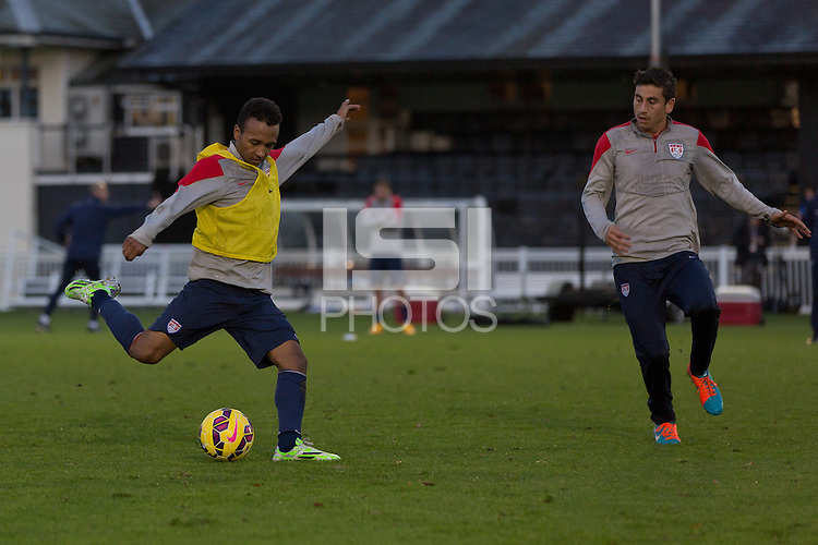 London, UK. - Monday, November 10, 2014: U.S. Men's National Team Training at Motspur Park in Fulham.