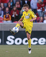 Columbus Crew Defender Robbie Rogers (19) in the Real Salt Lake 1-0 win over Columbus Crew in Game 1 of the Semi-Finals of the MLS Playoffs on October 31, 2009 at  Rio Tinto Stadium in Sandy, Utah