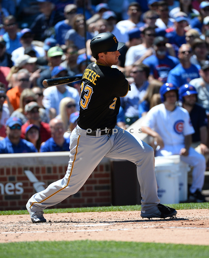 Pittsburgh Pirates David Freese (23) during a game against the Chicago Cubs on June 17, 2016 at Wrigley Field in Chicago, IL. The Cubs beat the Pirates 6-0.