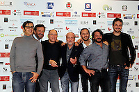 Giornate Professionali del Cinema 2014     <br /> greg,Christian de Sisa   Carlo Verdone, aurelio de laurentiis, luigi de Laurentiis , lillo and VolfANGO DE BIASI   during the professional days of cinema in Sorrento december 03 , 2014                         Giornate Professionali del Cinema 2014