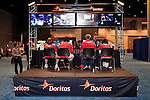 August 27, 2010. Raleigh, North Carolina.. One of the professional teams plays Halo 3. The pro team who wins the competition gets $20,000 to split among the four players that make up a team.. Major League Gaming (MLG), the league for professional videogame players, held their 50th Pro Circuit competition at the Raleigh Convention Center, with gamers from all over the country coming to for 3 days of competition in Halo 3, Tekken 6, Super Smash Bros. Brawl, Starcraft 2 and World of Warcraft.