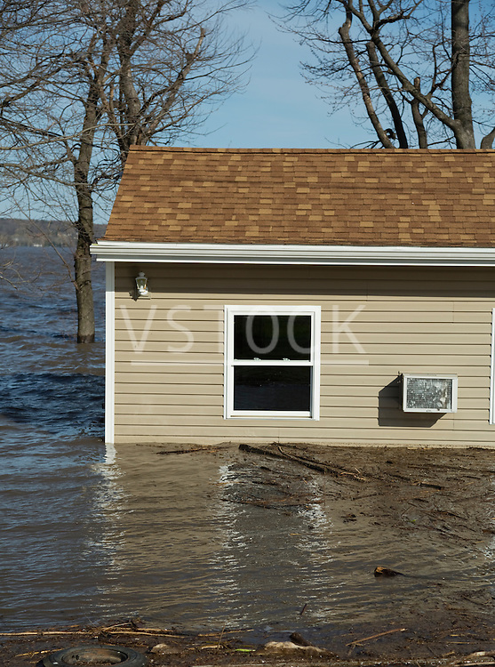 View of flooded house