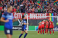 Portland, Oregon - Saturday July 9, 2016: Portland Thorns FC  during a regular season National Women's Soccer League (NWSL) match at Providence Park.