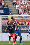 Mikel Balenziaga Oruesagasti (L) of Athletic Club fights for the ball with Fernando Torres (R)  of Atletico de Madrid during their La Liga match between Atletico de Madrid vs Athletic de Bilbao at the Estadio Vicente Calderon on 21 May 2017 in Madrid, Spain. Photo by Diego Gonzalez Souto / Power Sport Images