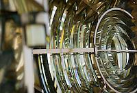 Europe/France/Bretagne/56/Morbihan/Belle-Ile/ Kervilahouen: le grand phare  édifié de 1826 à 1835 sur des plans de l'ingénieur Augustin Fresnel- Détail de la lanterne du Phare