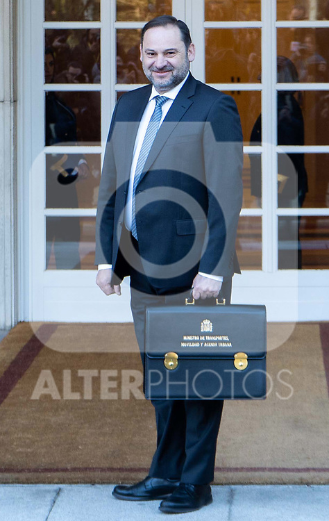 Spain's Minister of Transport, Mobility and Urban Agenda Jose Luis Abalos attends the first cabinet meeting of the new government. January 14,2020. (ALTERPHOTOS/Ander Beizama)