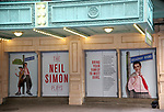 "Theatre Marquee for the Opening Night of Neil Simon's ""Bighton Beach Memoirs""  at the Nederlander Theatre in New York City.<br />