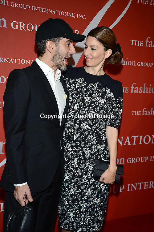 Marc Jacobs and Sofia Coppola attend the Fashion Group International's Night of Stars Gala on October 22, 2013 at Cipriani Wall Street in New York City.