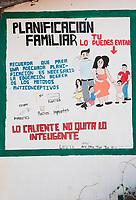 family planning poster in Portero, Oaxaca, Oaxaca, Mexico