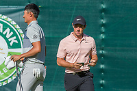 Rory McIlroy (NIR) and Haotong Li (CHN) during the first round at the Nedbank Golf Challenge hosted by Gary Player,  Gary Player country Club, Sun City, Rustenburg, South Africa. 08/11/2018Picture: Golffile | Heinrich Helmbold<br /> <br /> <br /> All photo usage must carry mandatory copyright credit (&copy; Golffile | Heinrich Helmbold)
