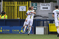 Jamie Allen of Burton Albion celebrates his goal in the first half with David Templeton of Burton Albion during AFC Wimbledon vs Burton Albion, Sky Bet EFL League 1 Football at the Cherry Red Records Stadium on 9th February 2019