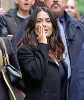 www.acepixs.com<br /> <br /> April 20 2017, New York City<br /> <br /> Actress Salma Hayek made an appearance at 'The View' and then returned to her Midtown hotel on April 20 2017 in New York City<br /> <br /> By Line: Curtis Means/ACE Pictures<br /> <br /> <br /> ACE Pictures Inc<br /> Tel: 6467670430<br /> Email: info@acepixs.com<br /> www.acepixs.com