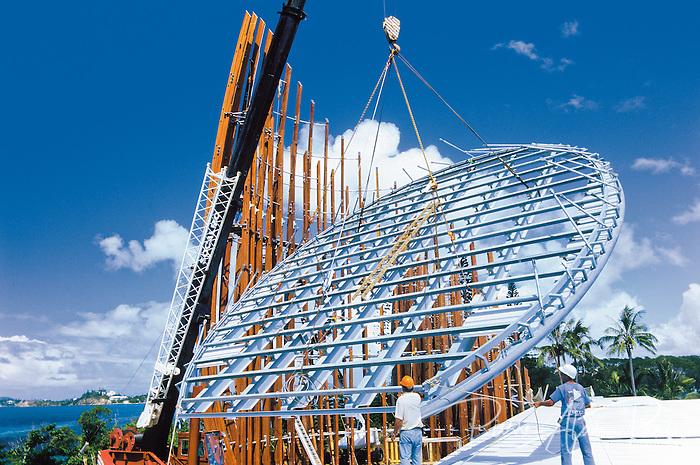 construction du centre culturel Tjibaou