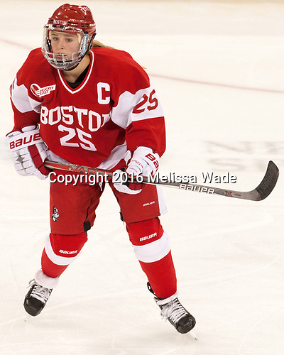 Alexis Crossley (BU - 25) - The Boston College Eagles defeated the visiting Boston University Terriers 5-3 (EN) on Friday, November 4, 2016, at Kelley Rink in Conte Forum in Chestnut Hill, Massachusetts.The Boston College Eagles defeated the visiting Boston University Terriers 5-3 (EN) on Friday, November 4, 2016, at Kelley Rink in Conte Forum in Chestnut Hill, Massachusetts.