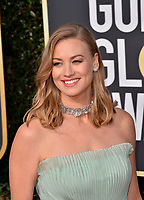 LOS ANGELES, CA. January 06, 2019: Yvonne Strahovski at the 2019 Golden Globe Awards at the Beverly Hilton Hotel.<br /> Picture: Paul Smith/Featureflash